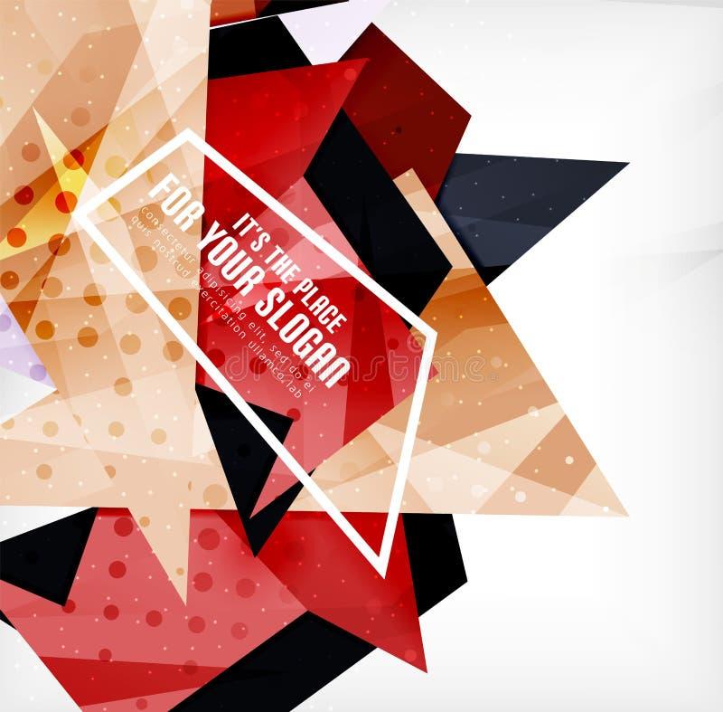 Download Triángulos Traslapados Brillantes Modernos 3d Ilustración del Vector - Ilustración de origami, cubierta: 42437598