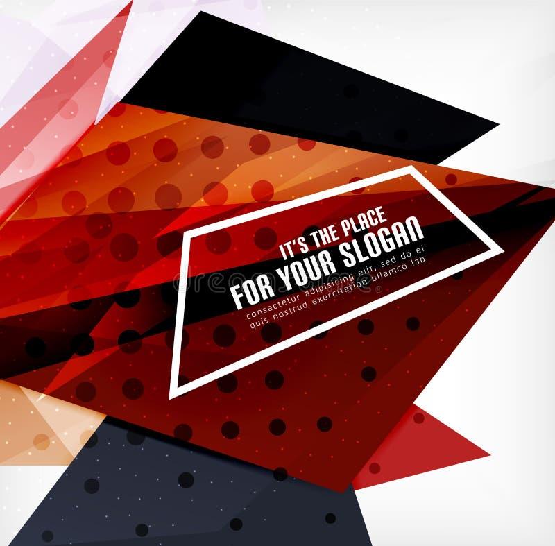 Download Triángulos Traslapados Brillantes Modernos 3d Ilustración del Vector - Ilustración de extracto, efecto: 42437703