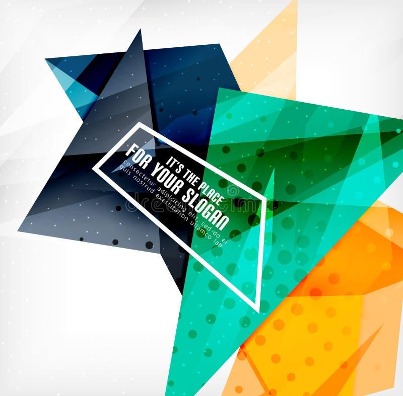 Download Triángulos Traslapados Brillantes Modernos 3d Ilustración del Vector - Ilustración de objeto, fondo: 42437727
