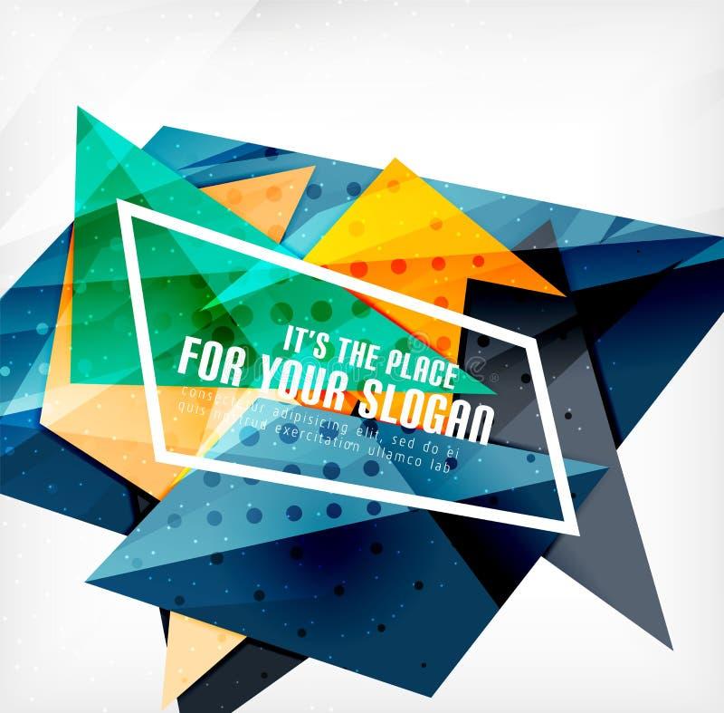 Download Triángulos Traslapados Brillantes Modernos 3d Ilustración del Vector - Ilustración de composición, overlapping: 42437787