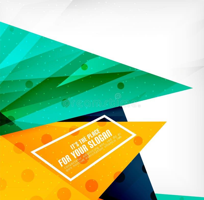 Download Triángulos Traslapados Brillantes Modernos 3d Ilustración del Vector - Ilustración de objeto, contexto: 42437794