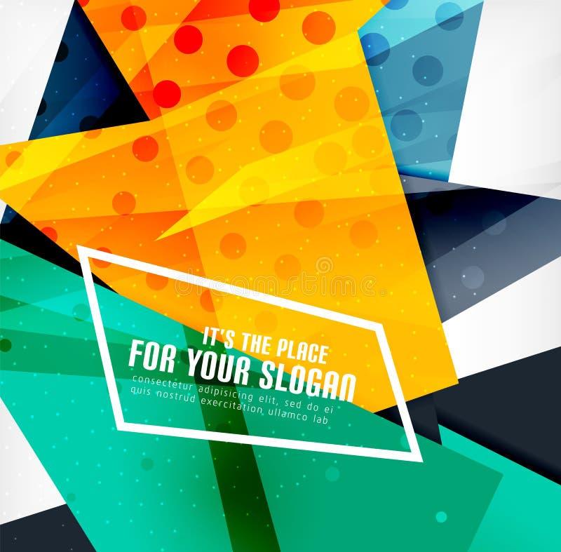 Download Triángulos Traslapados Brillantes Modernos 3d Ilustración del Vector - Ilustración de creativo, origami: 42437795