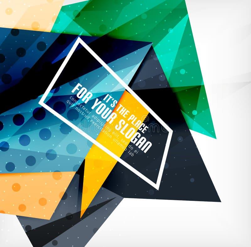 Download Triángulos Traslapados Brillantes Modernos 3d Ilustración del Vector - Ilustración de composición, futurista: 42437825