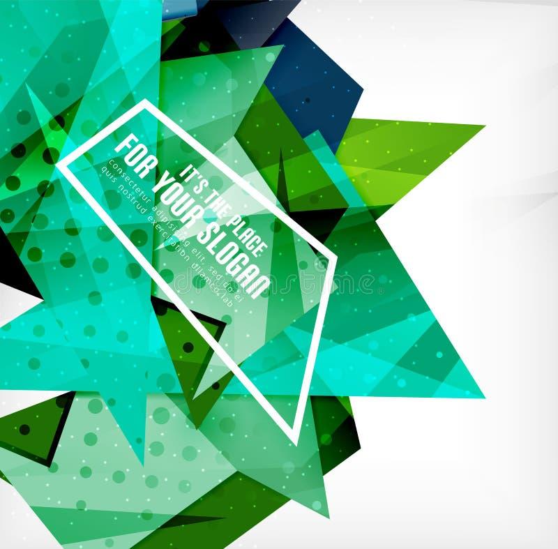 Download Triángulos Traslapados Brillantes Modernos 3d Ilustración del Vector - Ilustración de elemento, folleto: 42437872