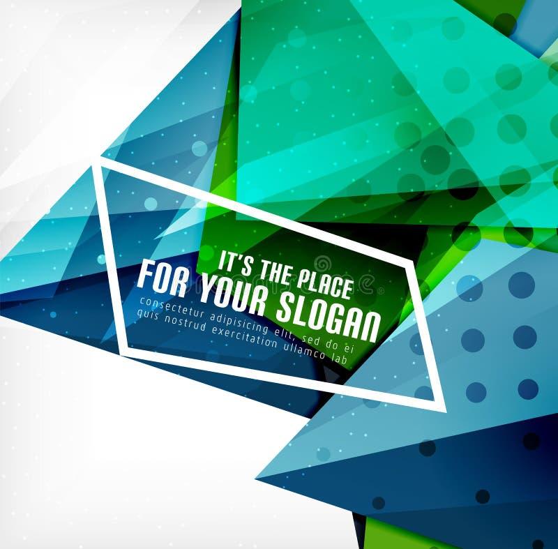 Download Triángulos Traslapados Brillantes Modernos 3d Ilustración del Vector - Ilustración de fondo, extracto: 42437893