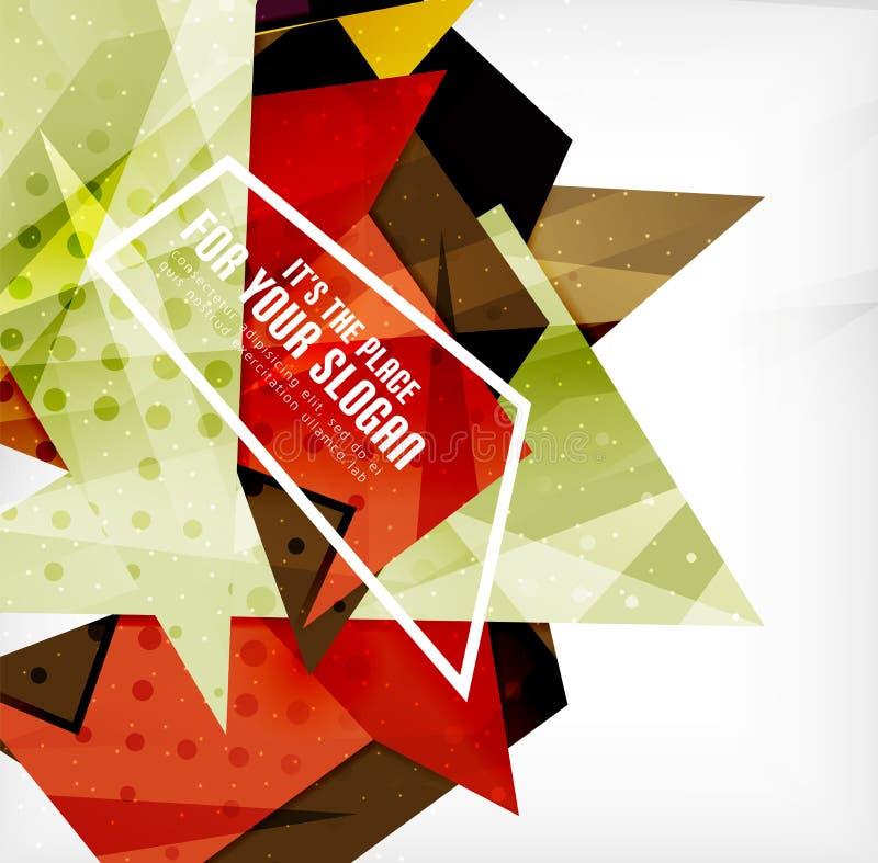 Download Triángulos Traslapados Brillantes Modernos 3d Ilustración del Vector - Ilustración de futurista, creativo: 42438001