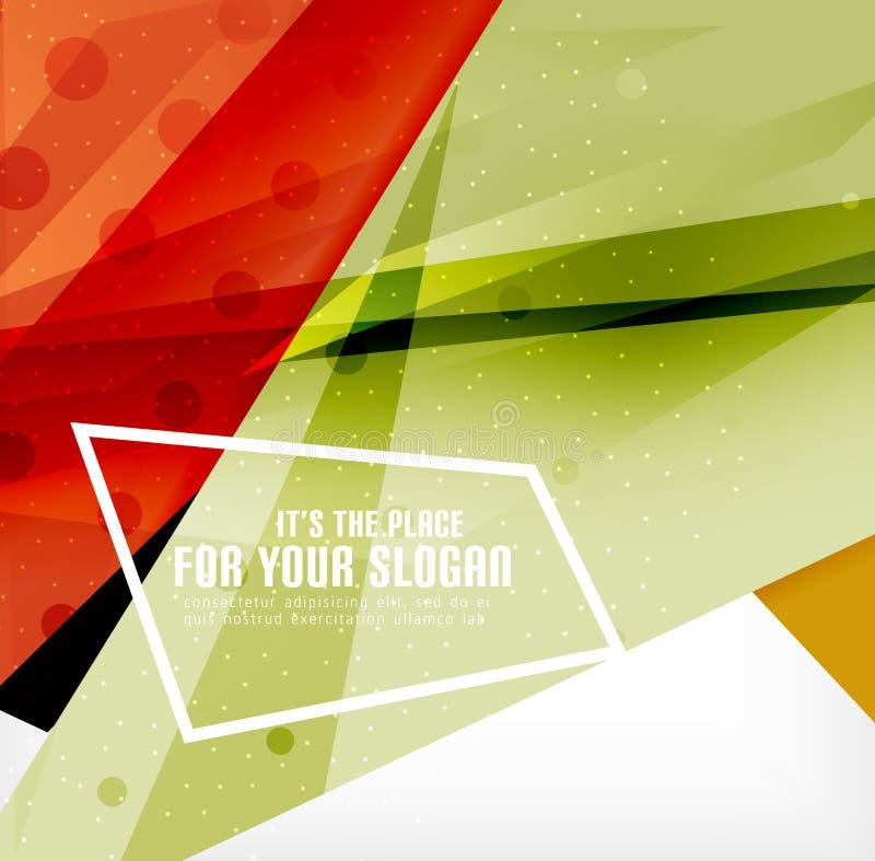 Download Triángulos Traslapados Brillantes Modernos 3d Ilustración del Vector - Ilustración de negocios, folleto: 42438053