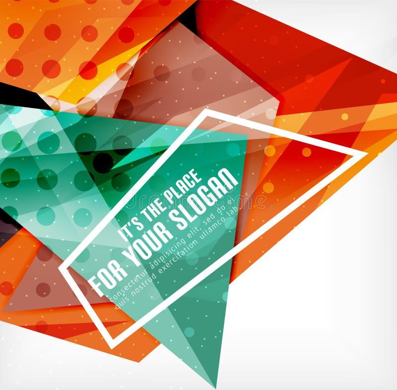 Download Triángulos Traslapados Brillantes Modernos 3d Ilustración del Vector - Ilustración de overlapping, futurista: 42438162