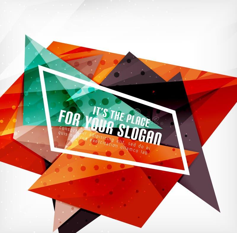 Download Triángulos Traslapados Brillantes Modernos 3d Ilustración del Vector - Ilustración de geometría, diseño: 42438189