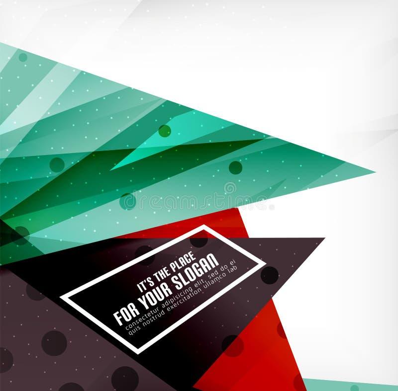 Download Triángulos Traslapados Brillantes Modernos 3d Ilustración del Vector - Ilustración de diseño, ilustración: 42438198