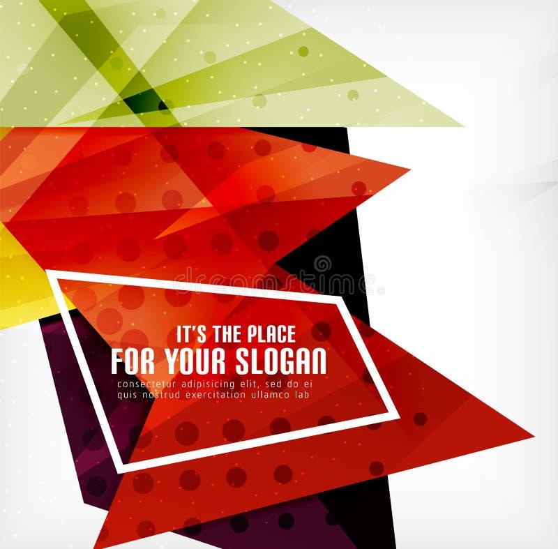 Download Triángulos Traslapados Brillantes Modernos 3d Ilustración del Vector - Ilustración de folleto, color: 42438258