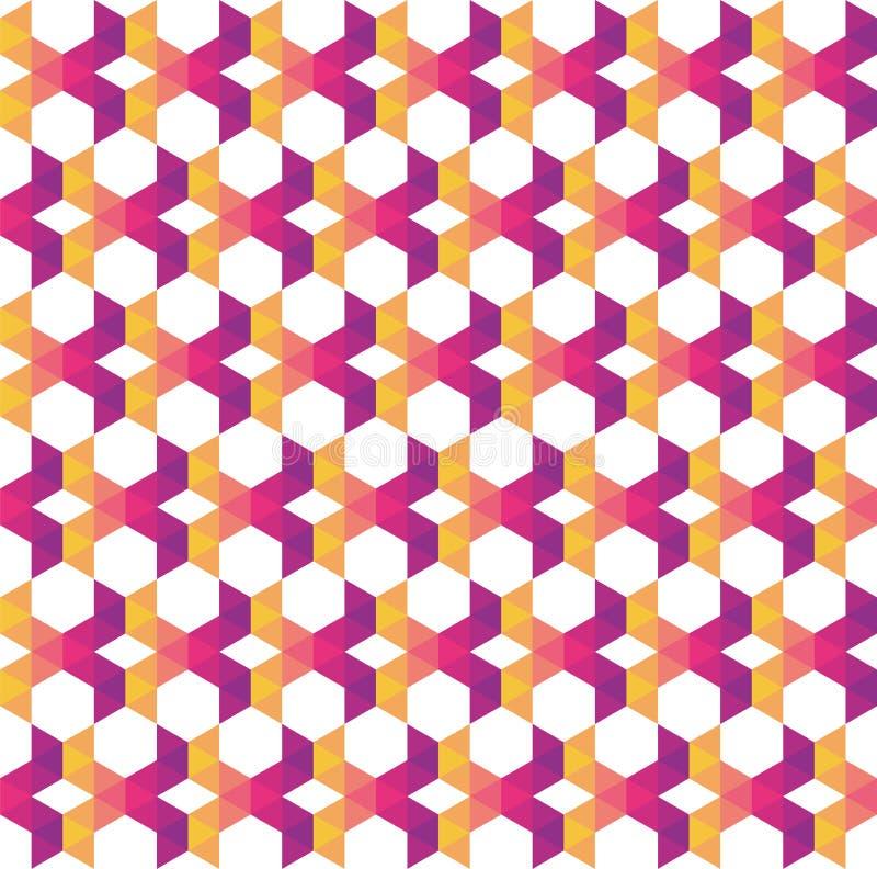 Triángulos traslapados geométricos y modernos coloridos abstractos encendido ilustración del vector