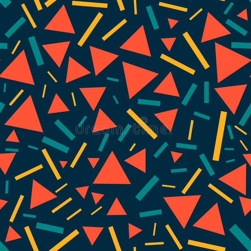 Triángulos y líneas - modelo inconsútil stock de ilustración