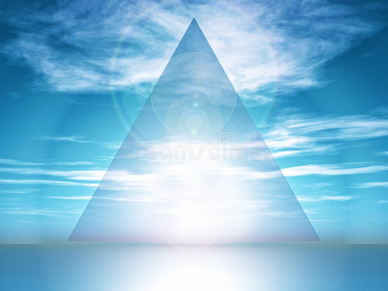 triângulo ilustração royalty free