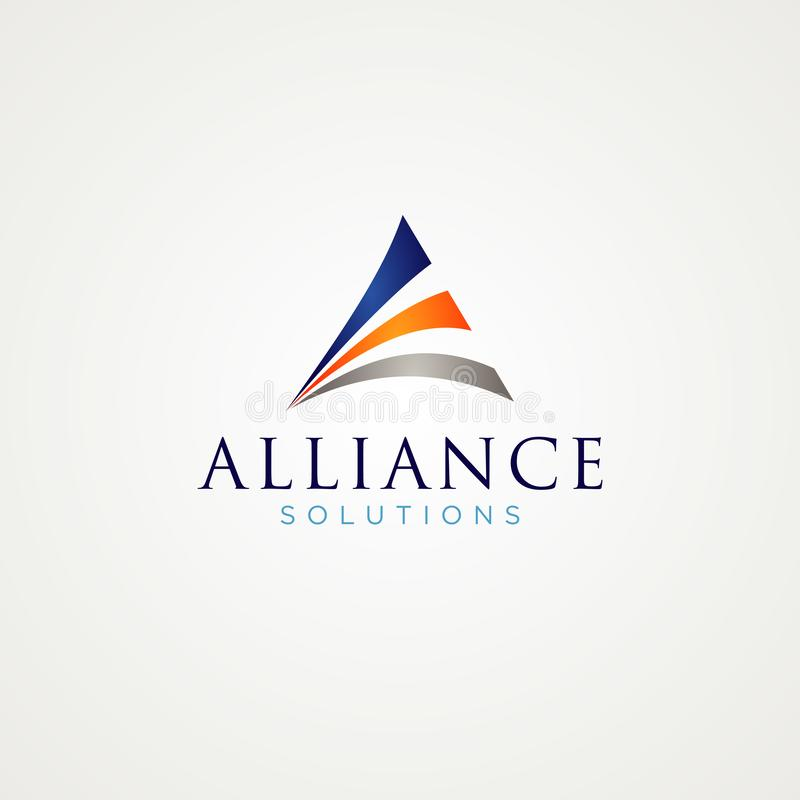 Triângulo abstrato Logo Design Symbol fotografia de stock