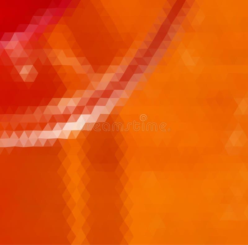 Triângulo alaranjado e vermelho foto de stock