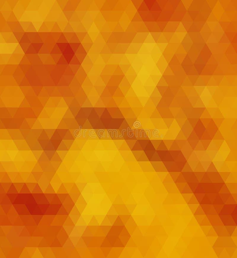 Triângulo amarelo e marrom fotografia de stock royalty free