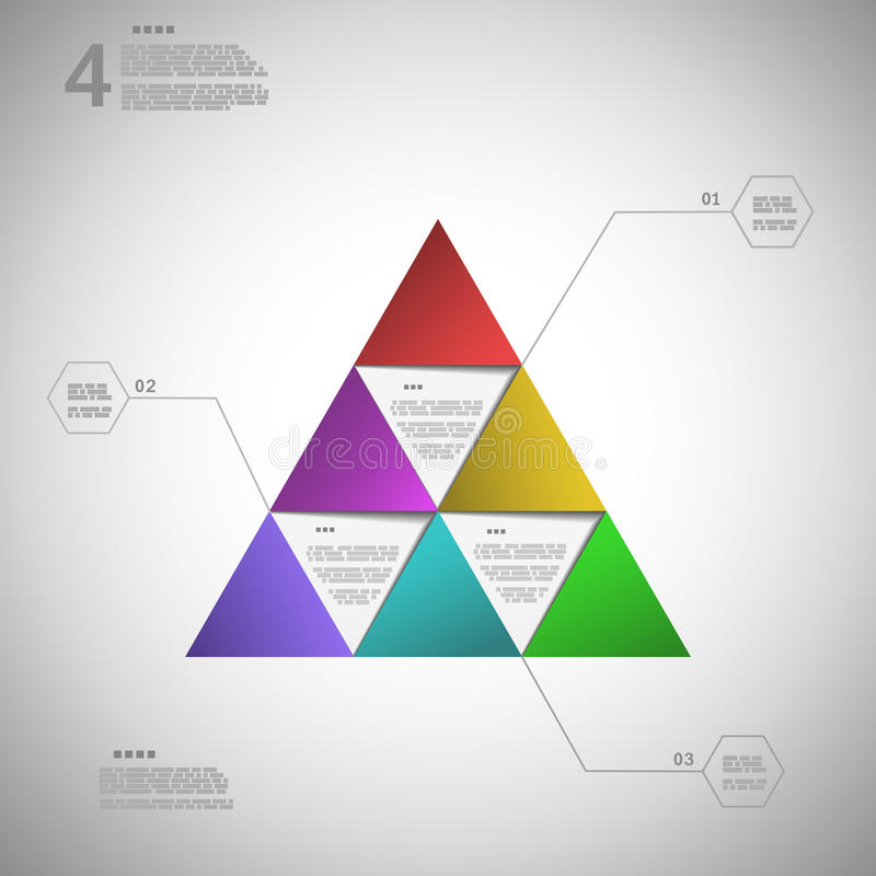 Triângulo colorido para a apresentação de dados ilustração royalty free