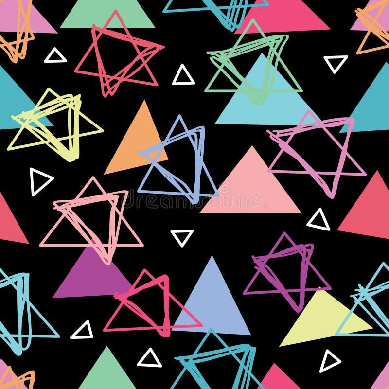 Triângulo como pode fazer o teste padrão sem emenda ilustração royalty free