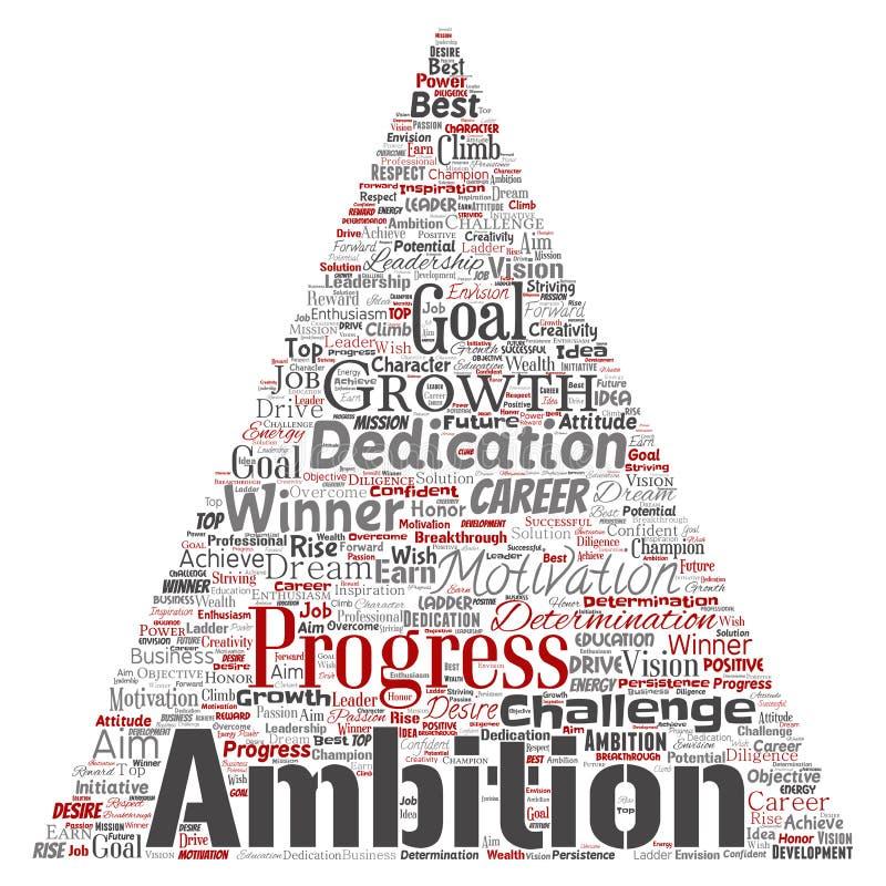 Triângulo da ambição ou da motivação da liderança do vetor ilustração royalty free