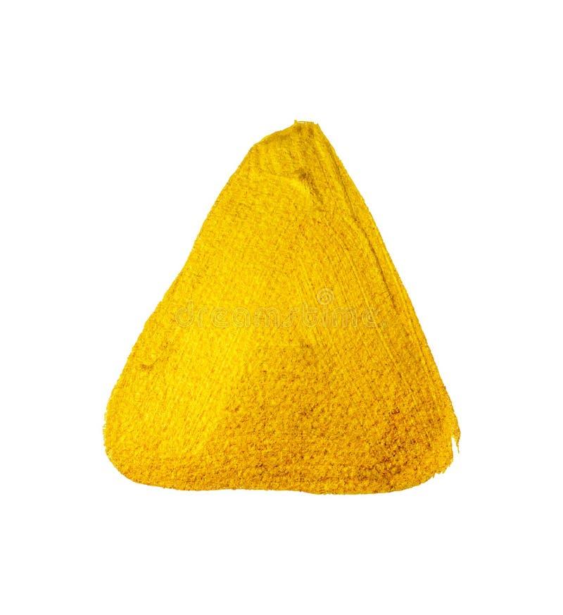 Triângulo da pintura do ouro amarelo Vetor ilustração do vetor