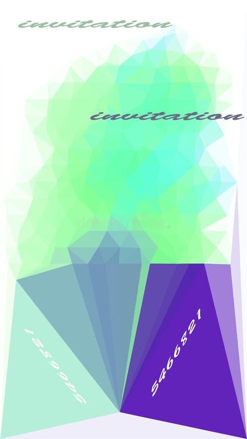 triângulo das ondas de cor em branco ilustração do vetor