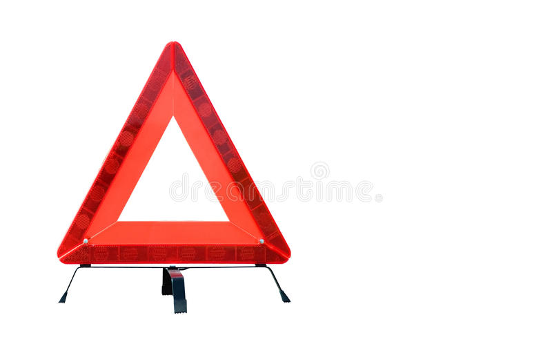 Triângulo de advertência imagem de stock