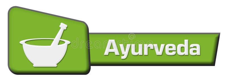 Triângulo do verde de Ayurveda ilustração royalty free