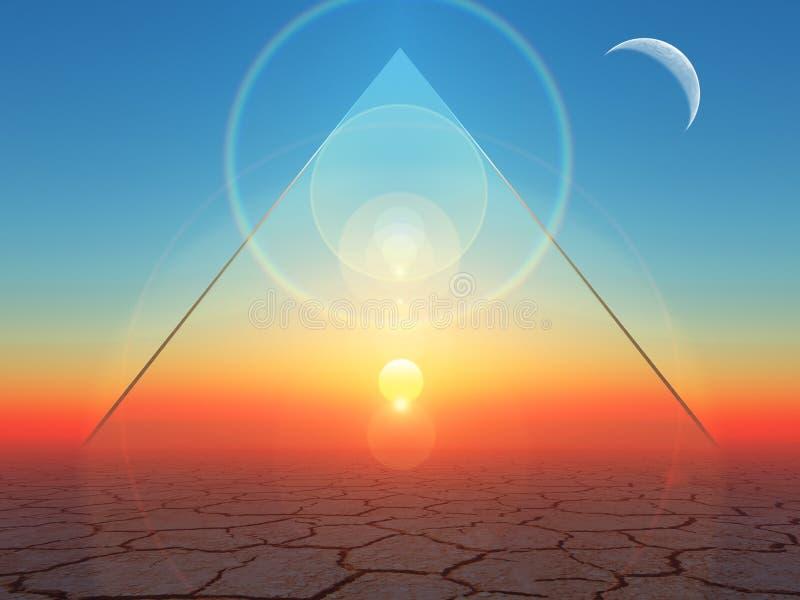 Triângulo e círculo ilustração stock