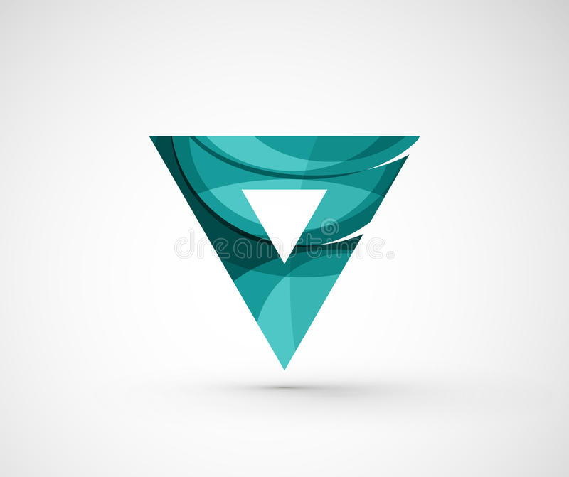 Triângulo geométrico abstrato do logotipo da empresa, seta ilustração stock