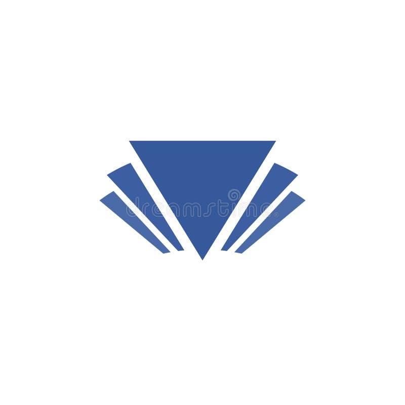 Triângulo Logo Design fotografia de stock