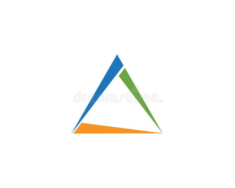 Triângulo Logo Template ilustração stock