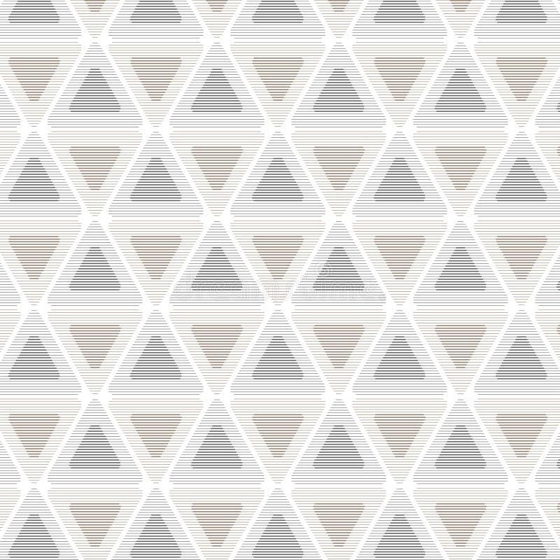 Triângulo sem emenda do teste padrão retro ilustração royalty free