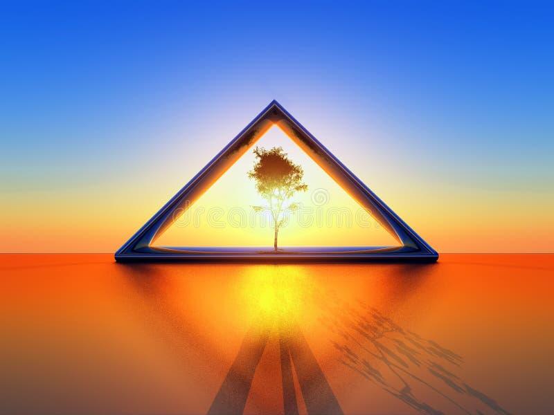 Triângulo solar ilustração do vetor