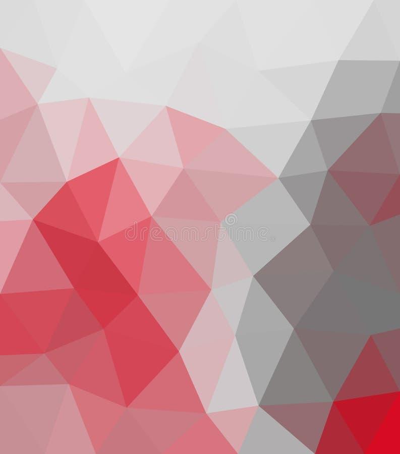 Triângulo vermelho e cinzento imagem de stock royalty free