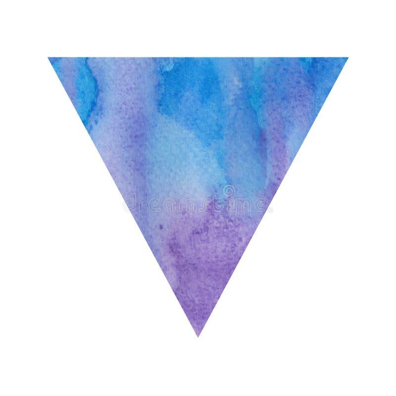Triângulo violeta e azul da aquarela ilustração royalty free