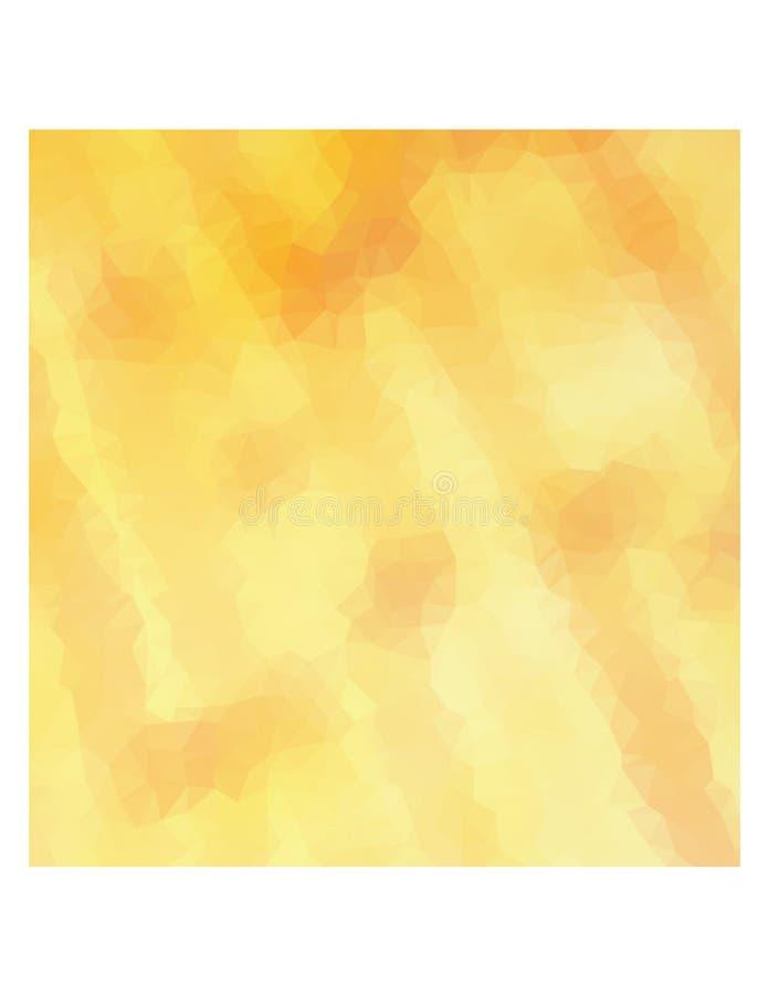 Triângulos amarelos multicoloridos fotografia de stock royalty free