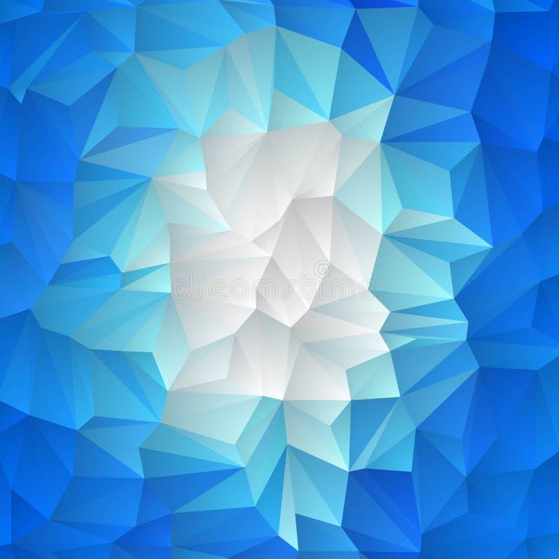 Triângulos brancos azuis abstraia o fundo Disposi??o para anunciar Eps 10 ilustração stock