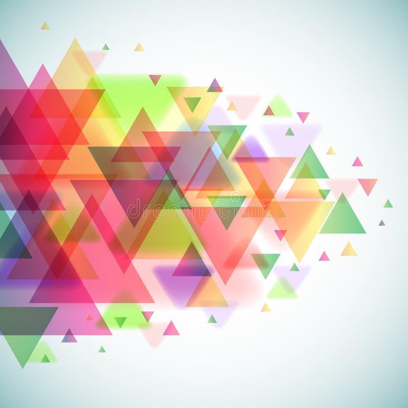 Triângulos coloridos abstratos ilustração stock