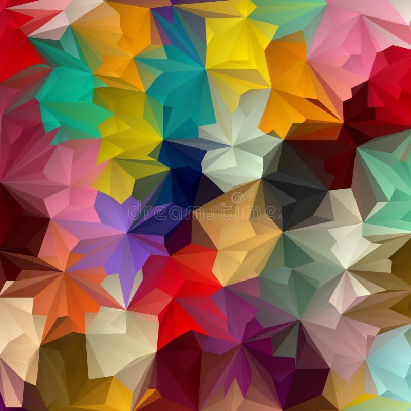 Triângulos coloridos brilhantes abstraia o fundo Disposi??o para anunciar Eps 10 ilustração do vetor