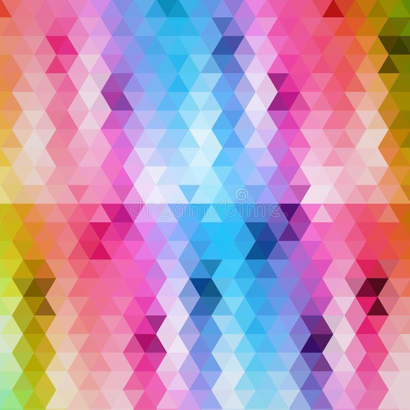 Triângulos coloridos brilhantes abstraia o fundo Disposi??o para anunciar Vetor do neg?cio da apresenta??o Template ilustração stock
