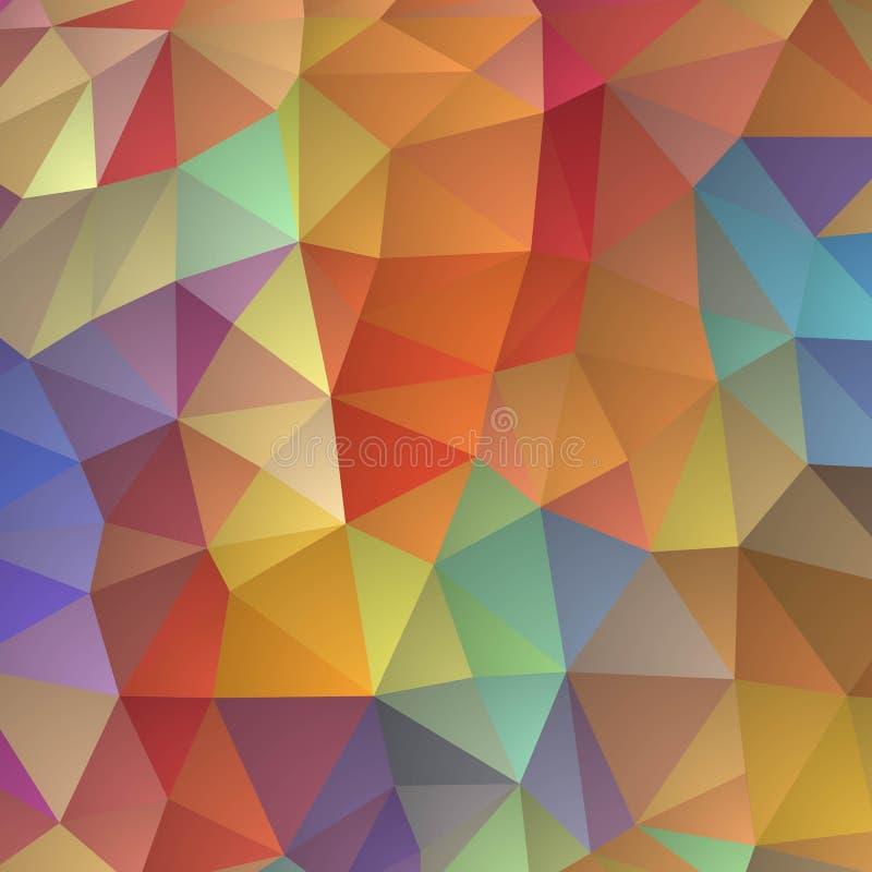 Triângulos coloridos, disposição para anunciar Fundo para a apresenta??o Ilustra??o abstrata do vetor Eps 10 ilustração do vetor