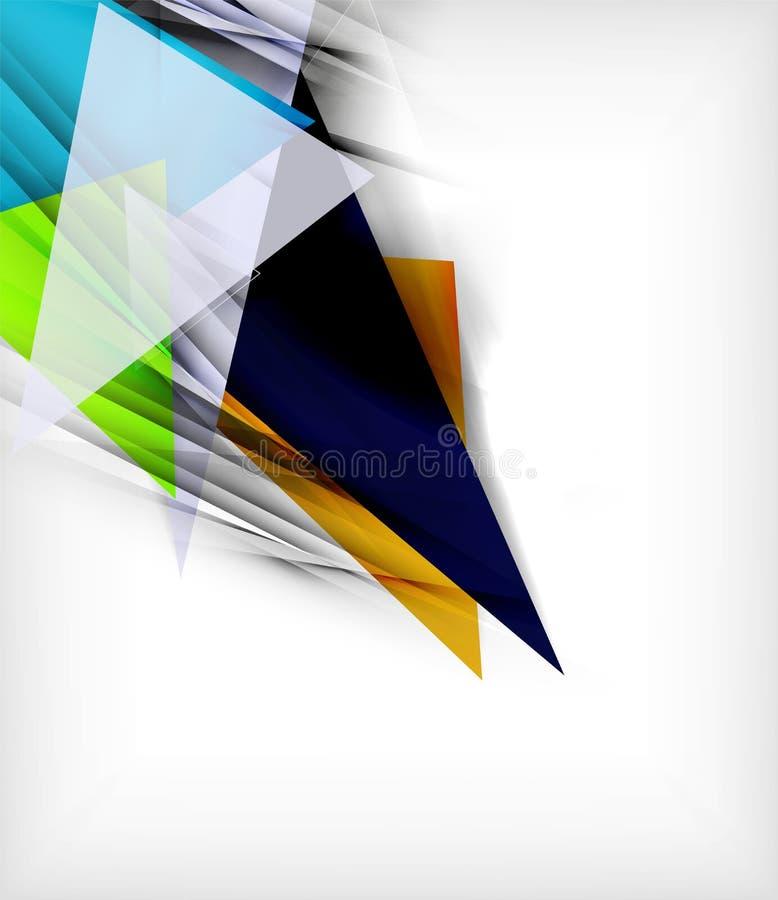 Triângulos da cor, fundo abstrato incomum ilustração stock