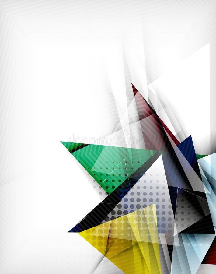 Triângulos da cor, fundo abstrato incomum ilustração do vetor