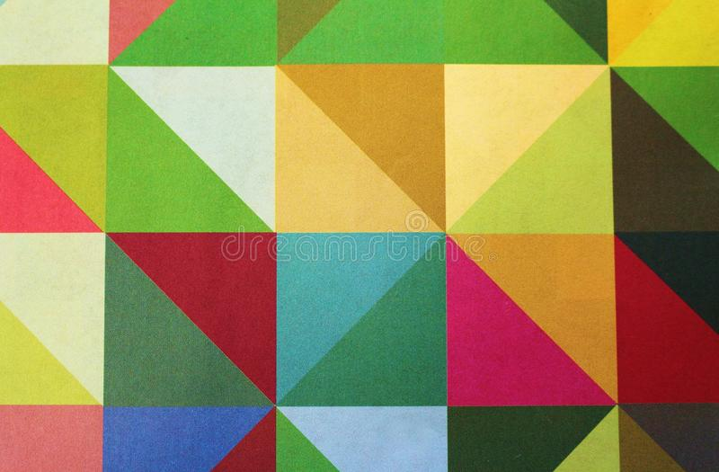Triângulos dos quadrados dos testes padrões imagens de stock