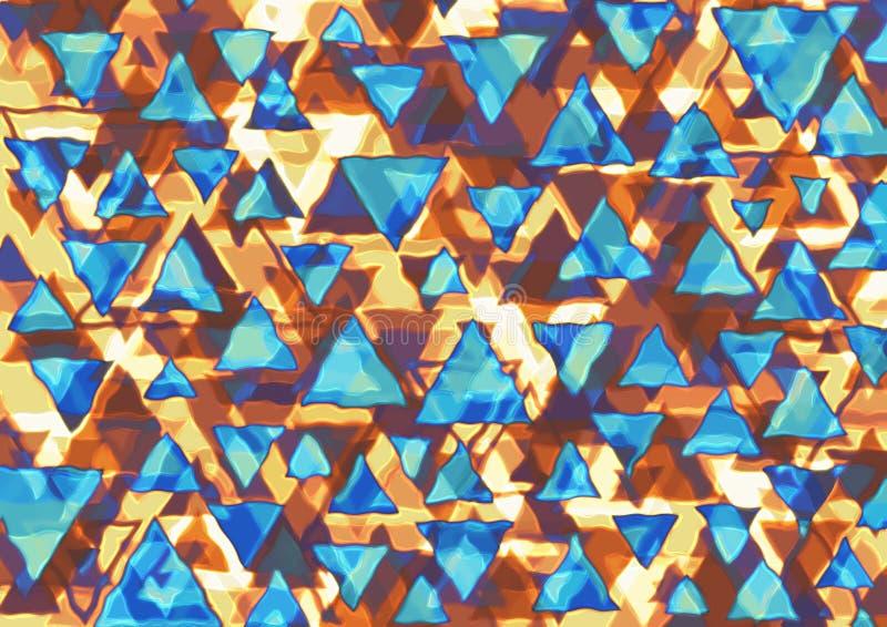 Triângulos retros imagem de stock royalty free