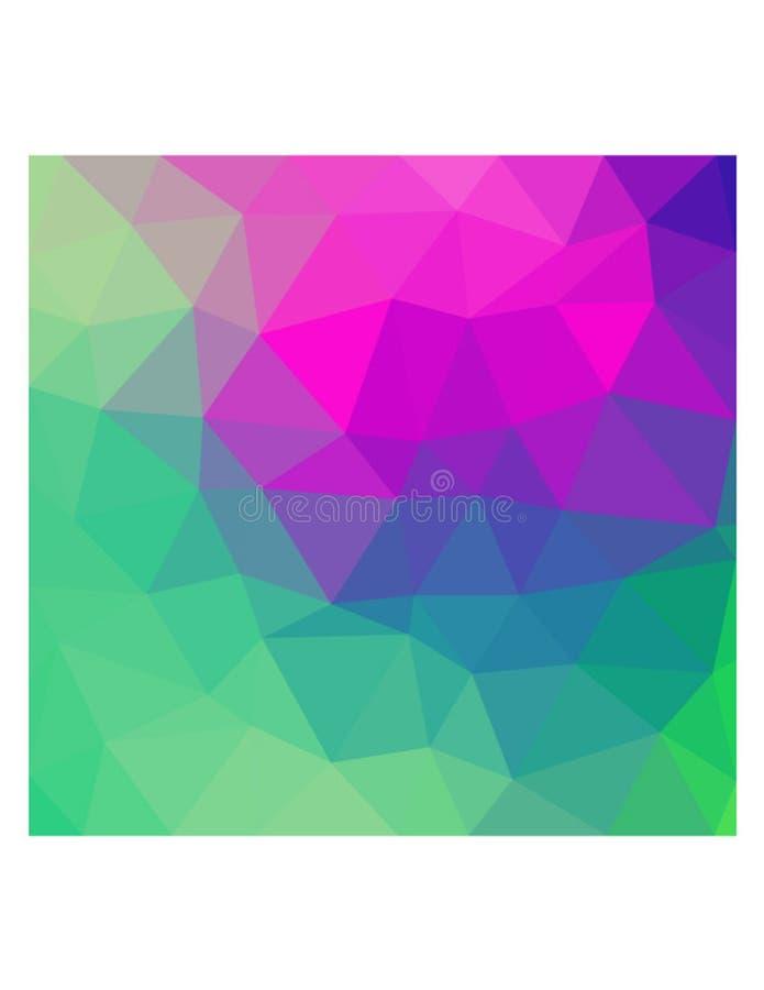 Triângulos verdes e cor-de-rosa multicoloridos fotografia de stock
