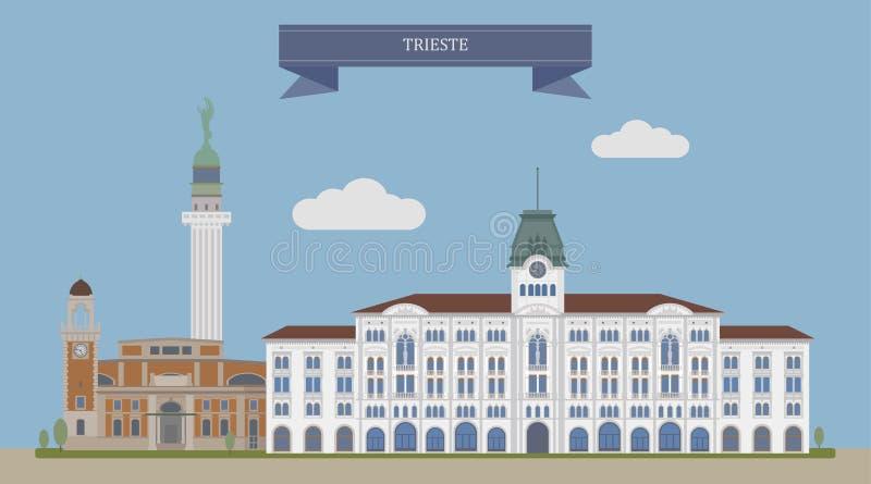Triëst, Italië stock illustratie