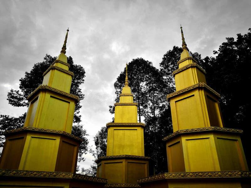Tri золотая пагода стоковое фото