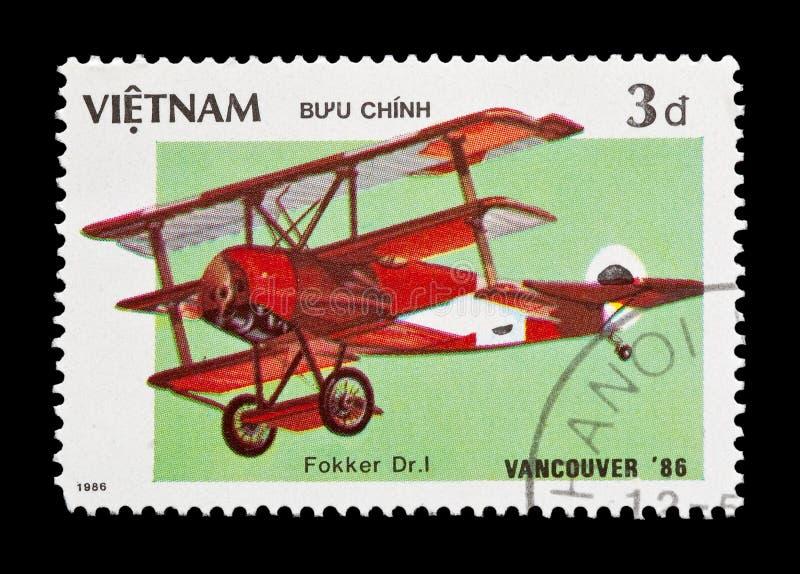 Tri avion rouge de baron photos stock